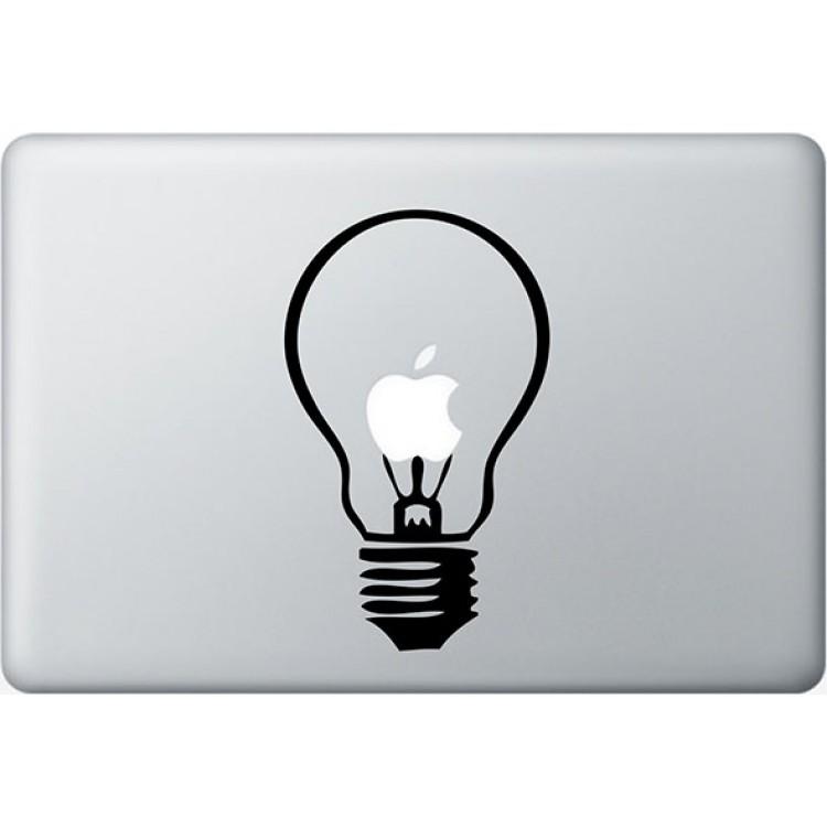 Light Bulb MacBook Decal Black Decals
