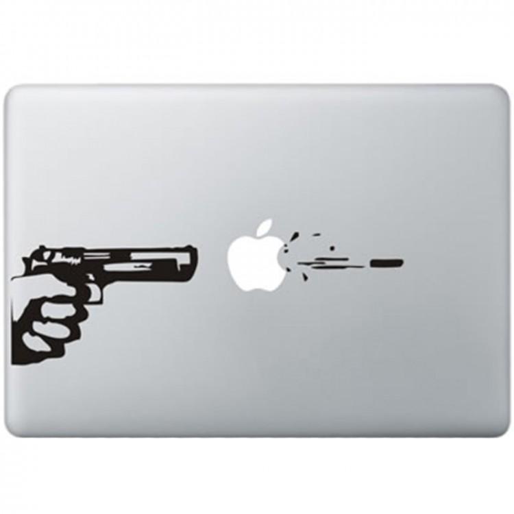 Gun Shot MacBook Decal Black Decals