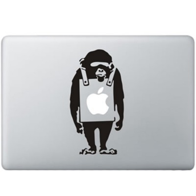 Banksy Sad Monkey MacBook Decal